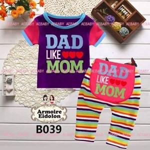 Dad Like <3<3<3 Mom Set