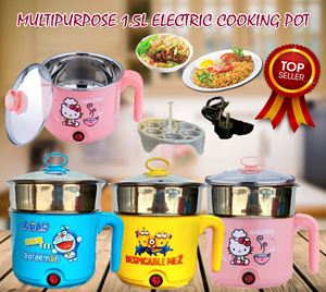 MULTIPURPOSE 1.5L ELECTRIC COOKING HOTPOT(STAINLESS STEEL 2ND LAYER)