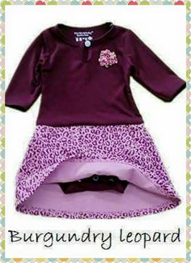 Romper Dress - Burgundy Leopard