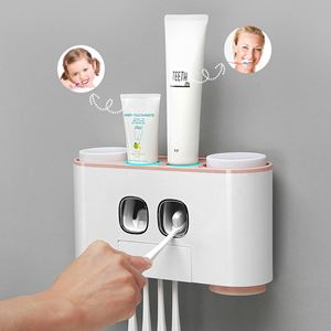 ECOCOC  Toothbrush Holder Automatically Squeezed Toothpaste