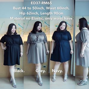 ED37 Ready Stock  *44 to 50inch/ 111-127cm