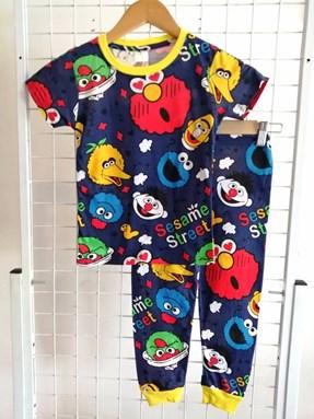 Pyjamas HLL DARK BLUE SESAME STREET LOVE :  Big Size 12 -18