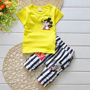 Boys Clothing Set - Yellow Mickey