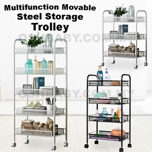 Multifunction Movable Steel Storage Trolley