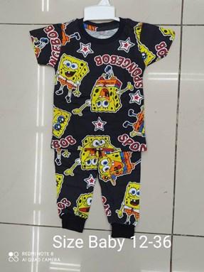 Pyjamas  SPONGEBOB BLACK EDITION : BABY 12M- 36M