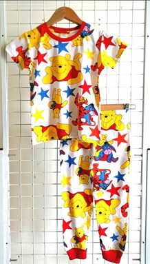 Pyjamas POOH ALL STAR WHITE : BABY size 6M (HELAL)