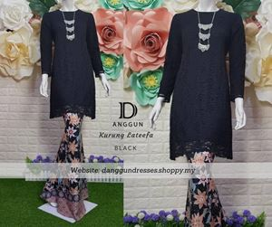 Kurung Lace Lateefa Black