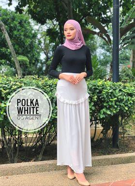 Polka skirt skirt