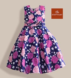 WS-ZF201524-001 ZOE FLOWER DRESS (sz6-10)