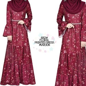 682# PRINTED FLORAL DRESS