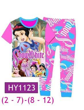 HY1123 Snow White Pyjamas (2 - 7 tahun)(8 - 12tahun)