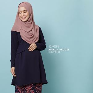 Werda Blouse : Navy Blue