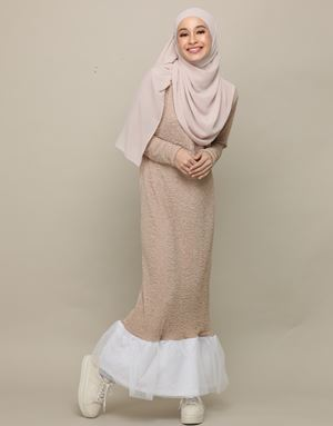 ERENA DRESS IN NUDE