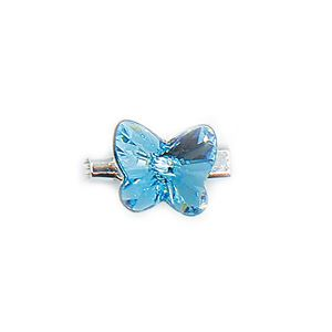 Brooch 3D Butterfly Luxe Aquamarine