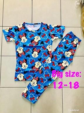 Pyjamas Viral BLUE MINNIE : SIZE BIG  12, 16