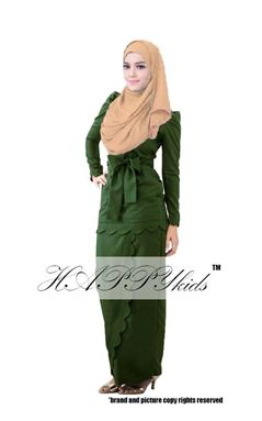 @  HAPPYKIDS SCALLOP  ( WOMAN -  GREEN ARMY  )  S-2XL