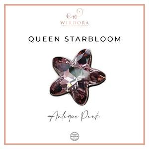 Brooch Star Queen Antique Pink