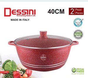 DESSINI WOK GLASS 40CM - RED