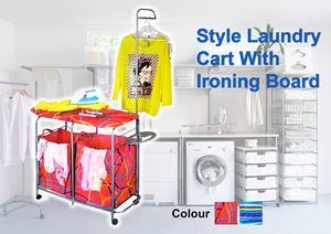 Style Laundry Cart With Ironing Board