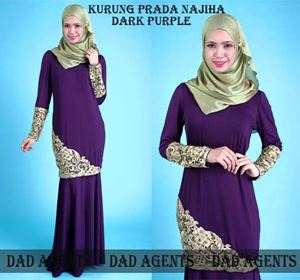Kurung Prada Najiha Dark Purple