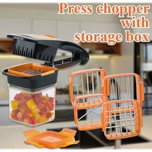 PRESS CHOPPER WITH STORAGE BOX