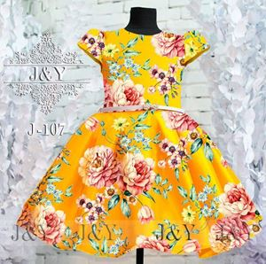 J&Y FLOWER DRESS YELLOW