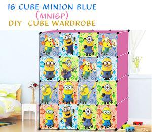 Minion 16 Cube Pink DIY Wardrobe (MN16P)