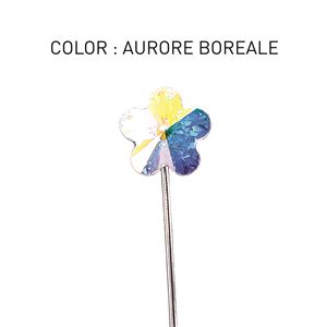 Pin 3D Flower Luxe Aurore Boreale