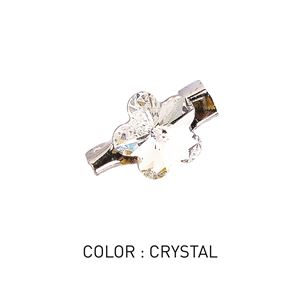 Brooch 3D Flower Luxe Crystal