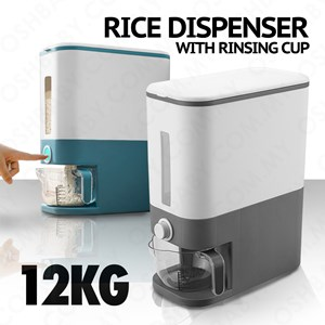 RICE DISPENSER WITH RINSING CUP