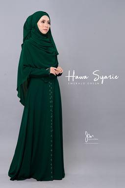 JUBAH HAWA SYARIE (EMERALD GREEN)