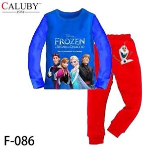 @  F-086 ( 8-12Y )  FROZEN BLUE TOP + RED PANT