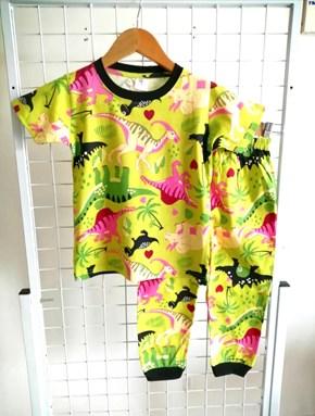 Pyjamas DINOSAUR GREEN : BABY 6M- 24M