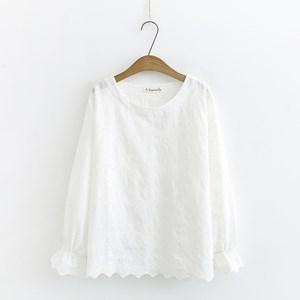 Cotton Eyelet Blouse (White)