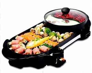 2 IN 1 PAN GRILL & BBQ STEAMBOAT