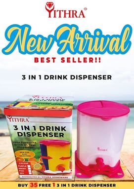 3 IN 1 DRINK DISPENSER - PINK