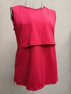 *Milk Silk* Sleeveless Nursing Inner (Red) Size Big