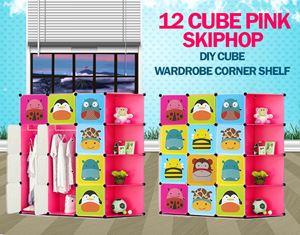 Skiphop Pink 12C DIY Cube w Corner Rack (SK12CP)