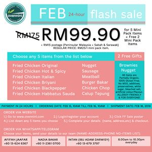 FEB FLASH SALE (RM99.90 for 5 items + 2 Free Items - Mini Pack)