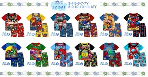 J2 KIDS PLAYSET #381 - AVENGERS / SONIC / AMOUNG US  ( SIZE 3Y -12Y )