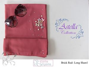 Astella Handcrafted Shawl (BRICK RED)