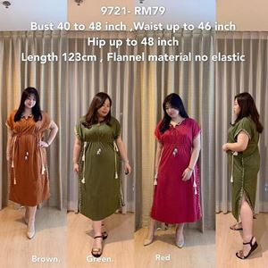9721* Ready Stock *Bust 40 to 48 inch/ 101-121cm
