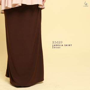 Adelia Skirt Plain : Dark Brown