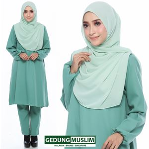 JUBAH SELUAR RAUDAH - DUSTY GREEN COLOR