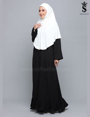 JUBAH TIFFANY BLACK