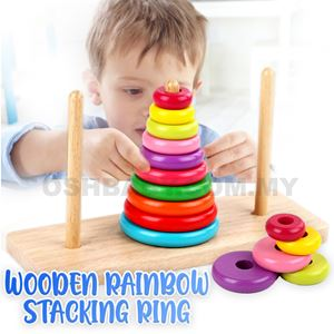 WOODEN RAINBOW STACKING RING
