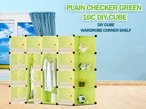 Plain Green 16C DIY Cube w Corner Rack (FG16CR)