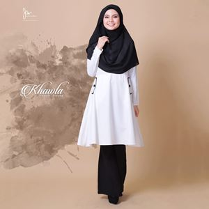 KHAWLA CASUAL BLOUSE ( OFF WHITE )