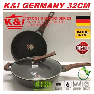 K&I Germany Non Stick Pan 32cm ( Periuk Batu Seramik )