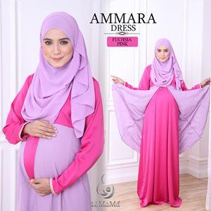 Ammara Dress : Fuchsia Pink